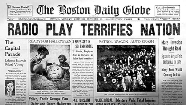 orson welles war of world boston globe