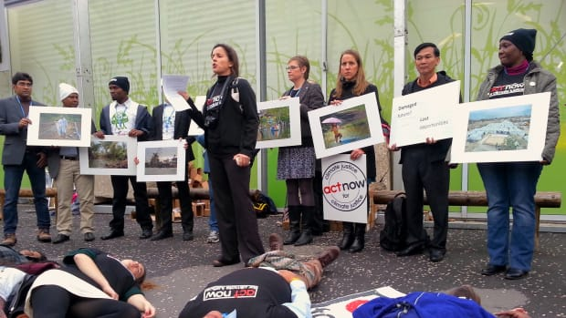 CLIMATE JUSTICE COP21 protest