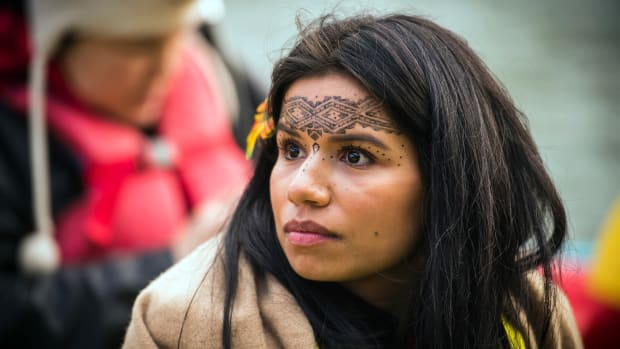 indigenous activists cop21 kayak
