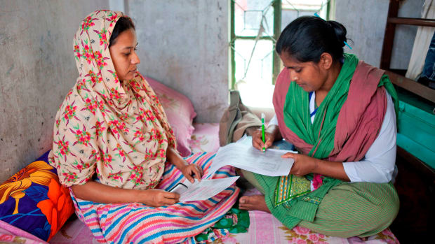 Bangladesh_Health worker registers expectant mother E.jpg