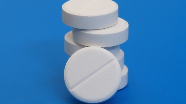 Close-up photo of a pile of round pills