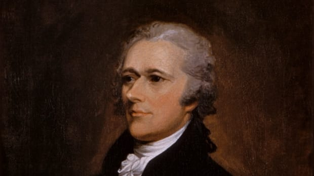 Portrait of Alexander Hamilton.