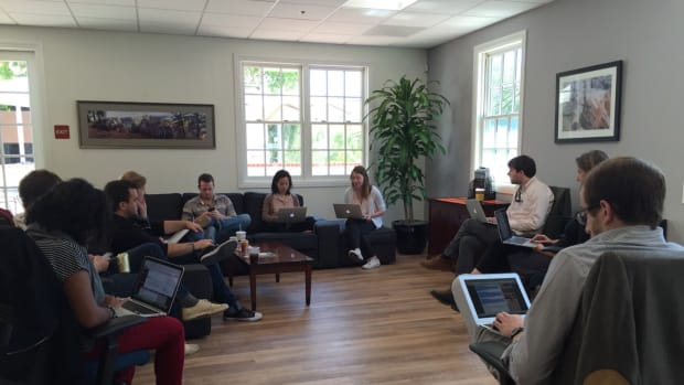Pacific Standard's editorial team meets to discuss ideas for the upcoming September/October issue, which will include a special report on food.