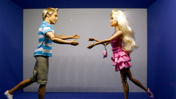 Barbie and Ken dolls.