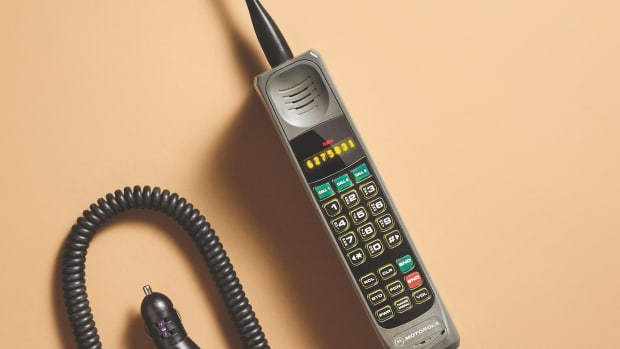 An old Motorola cell phone.