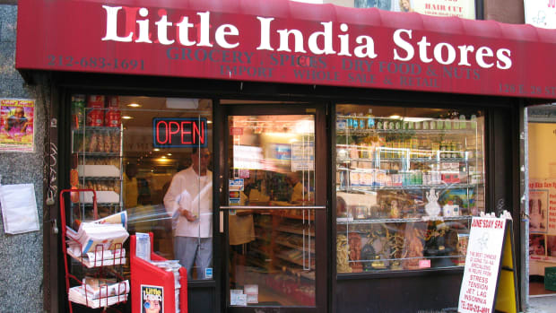 An Indian grocer in New York City, pictured here in 2008.