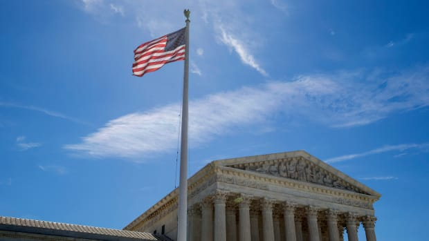 A flag flies outside the U.S. Supreme Court on June 26th, 2017.