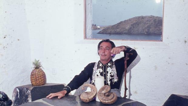Artist Salvador Dali, pictured here in 1963.
