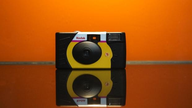 A Kodak disposable camera.