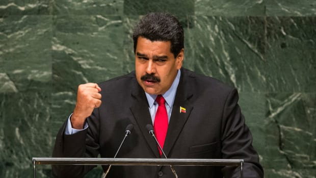 Venezuelan President Nicolás Maduro speaks before the United Nations General Assembly on September 24th, 2014.
