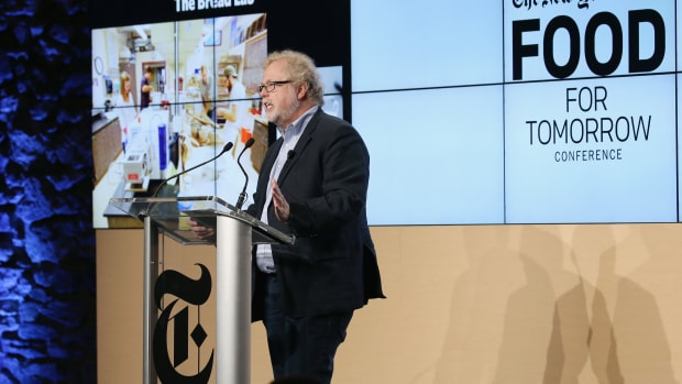 Nathan Myhrvold, founder and chief executive office of Intellectual Ventures and primary author of the Modernist Cuisine books, speaks onstage at The New York Times Food for Tomorrow Conference in 2015.