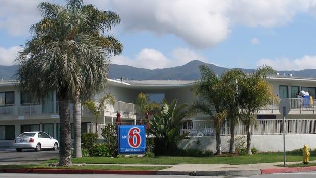 A Motel 6 in Santa Barbara, California.