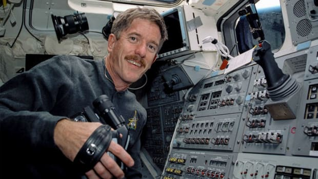 James Reilly, pictured here aboard the Space Shuttle Atlantis in 2001.