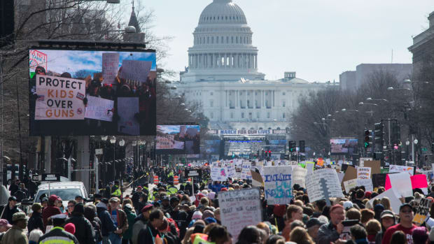 Participants take part in the March for Our Lives rally in Washington, D.C., on March 24th, 2018.