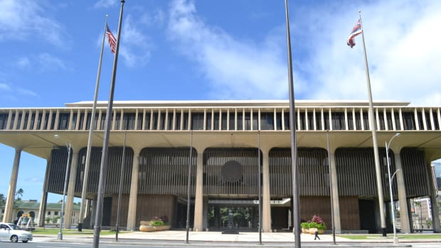 The Hawaii State Capitol.