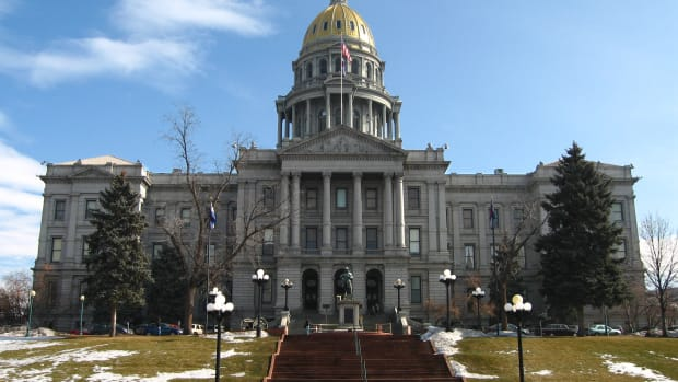 The Colorado State Capitol Building in Denver, Colorado.
