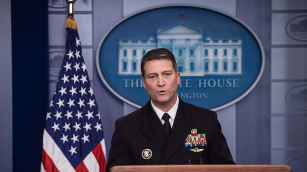 White House doctor Ronny Jackson, chosen as the next permanent secretary of the Department of Veterans Affairs.
