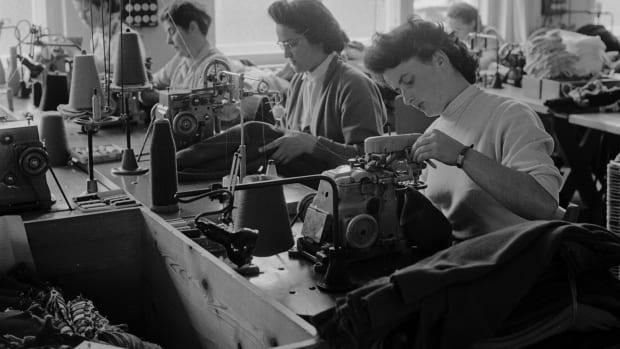 A textile mill, circa 1950.