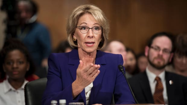 Betsy DeVos speaks during her confirmation hearing for secretary of education.