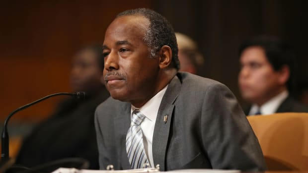 Housing and Urban Development Secretary Ben Carson testifies before the Transportation, Housing and Urban Development, and Related Agencies Subcommittee on Capitol Hill April 18th, 2018, in Washington, DC.