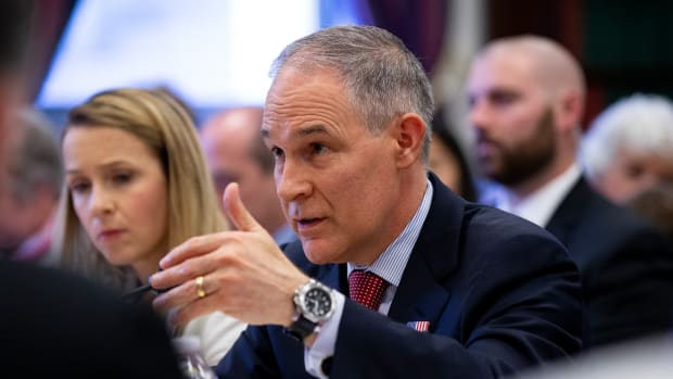 EPA Administrator Scott Pruitt testifies before the House Appropriations Committee on April 26th, 2018, in Washington, D.C.