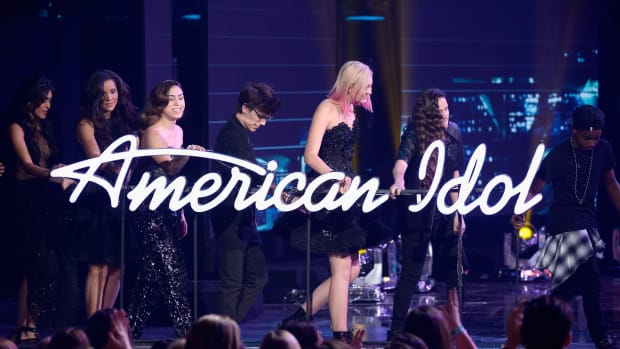 The cast of Season 15 onstage during FOX's 'American Idol' Finale For The Farewell Season at Dolby Theatre on April 7th, 2016 in Hollywood, California
