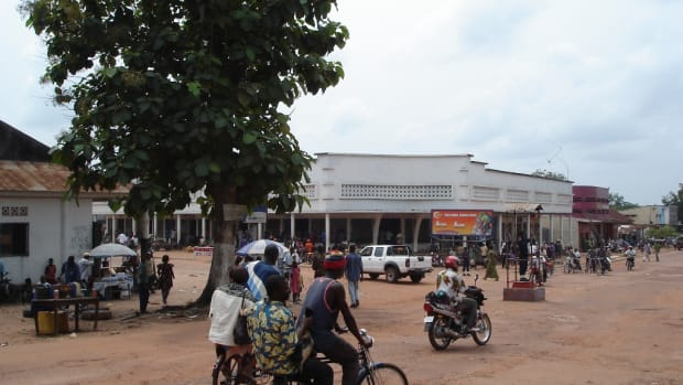 The commercial centre of Mbandaka in the Congo.