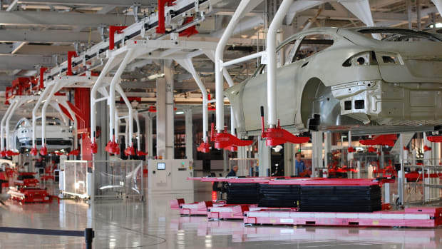 Tesla factory in Fremont, California.