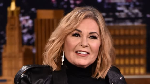 Roseanne Barr Visits The Tonight Show Starring Jimmy Fallon on April 30th, 2018, in New York.
