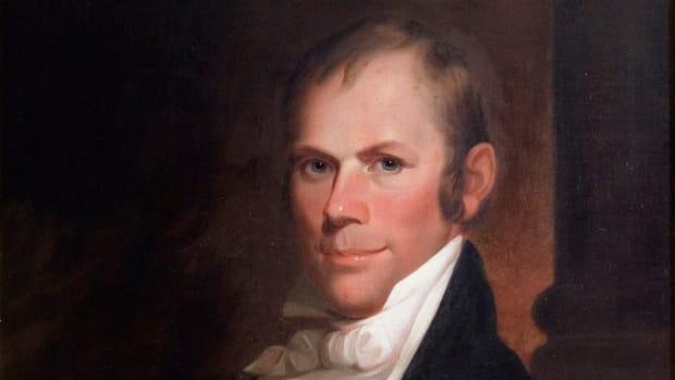 A portrait of Henry Clay, by Matthew Harris Jouett, circa 1818.