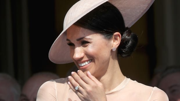 Meghan, Duchess of Sussex, attends the Prince of Wales' 70th Birthday Patronage Celebration held at Buckingham Palace on May 22nd, 2018, in London, England.