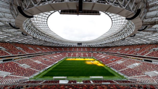 The Luzhniki stadium in Moscow, Russia.