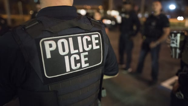 U.S. Immigration and Customs Enforcement officers arrested hundreds in Florida and Puerto Rico in March of 2018.
