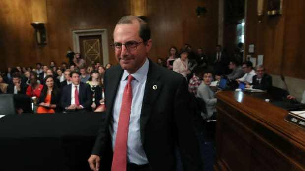 HHS Secretary Alex Azar before the Senate Health, Education, Labor and Pensions Committee, on Capitol Hill
