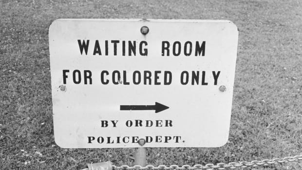 A sign in Jackson, Mississippi, circa 1961.