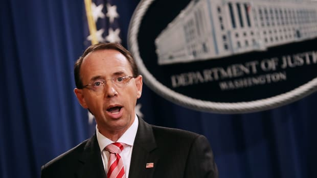 Deputy Attorney General Rod Rosenstein announced indictments against 12 Russian intelligence agents for hacking
