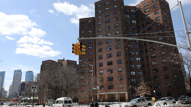 A public housing project in Brooklyn on March 16th, 2017, in New York City.