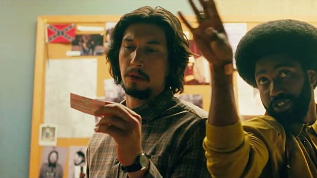 Adam Driver and John David Washington in Spike Lee's BlacKkKlansman.