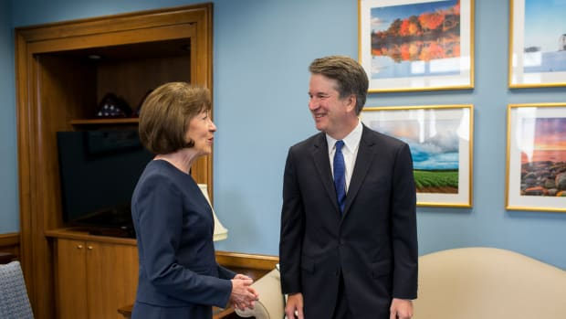 Supreme Court Nominee Brett Kavanaugh meets with Senator Susan Collins in her office on Capitol Hill on August 21st, 2018, in Washington, D.C.