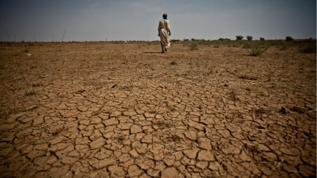 Extreme events like a prolonged drought in the Sahel region are causing a massive environmental migration crisis.