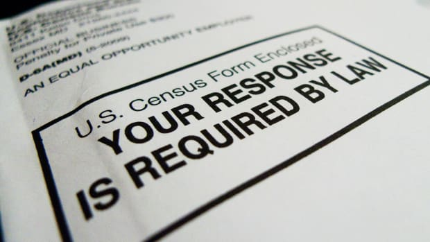 The 2010 U.S. Census form.