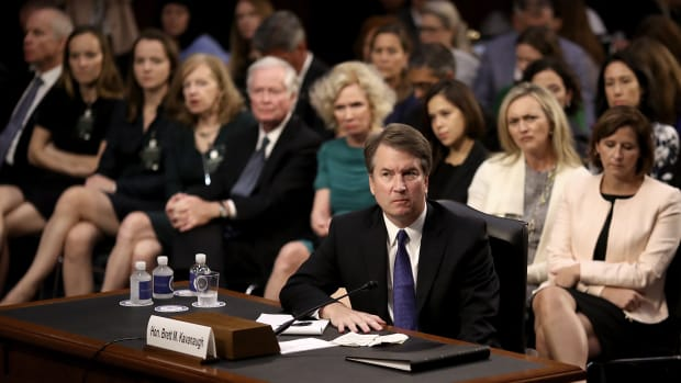 Supreme Court nominee Judge Brett Kavanaugh appears before the Senate Judiciary Committee during his Supreme Court confirmation hearing in the Hart Senate Office Building on Capitol Hill on September 4th, 2018, in Washington, D.C.