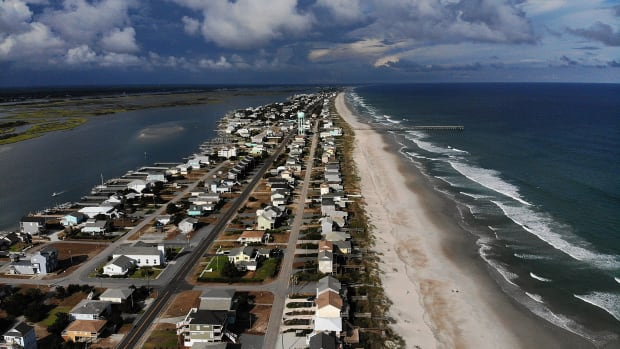 A mandatory evacuation is in effect Topsail Beach, North Carolina, as residents prepare for Hurricane Florence on September 11th, 2018.