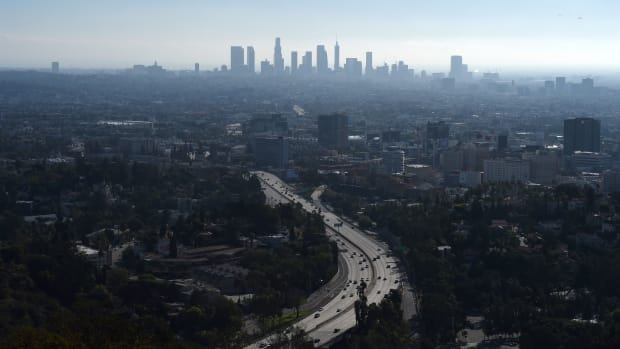 A morning view of downtown Los Angeles.