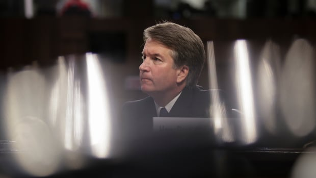 Brett Kavanaugh listens to opening statements during his Supreme Court confirmation hearing on September 4th, 2018, in Washington, D.C.