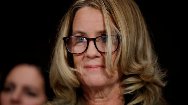 Christine Blasey Ford, who has accused Supreme Court nominee Brett Kavanaugh of a sexual assault in 1982, testifies before a Senate Judiciary Committee confirmation hearing for Kavanaugh on Capitol Hill in Washington, D.C., on September 27th, 2018.