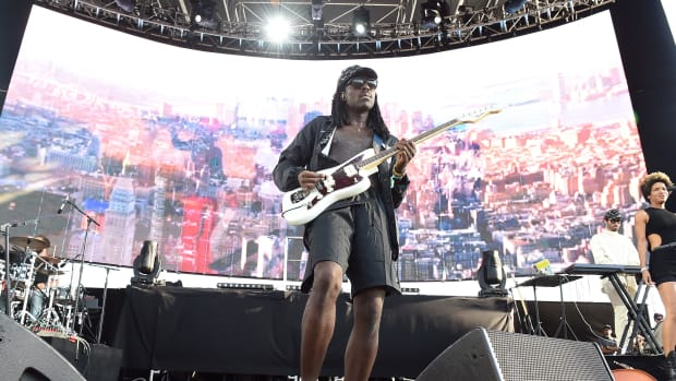 Recording artist Dev Hynes a.k.a. Blood Orange performs onstage during FYF Fest 2016 at Los Angeles Sports Arena on August 28th, 2016, in Los Angeles, California.