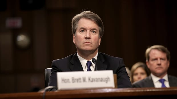 Supreme Court nominee Judge Brett Kavanaugh appears before the Senate Judiciary Committee during his Supreme Court confirmation hearing on September 4th, 2018, in Washington, D.C.