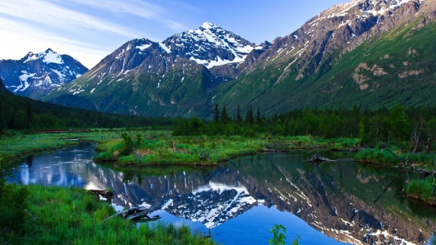 Eagle River Valley in Alaska.