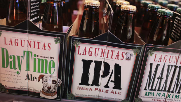 Lagunitas beer on sale in Chicago, Illinois.